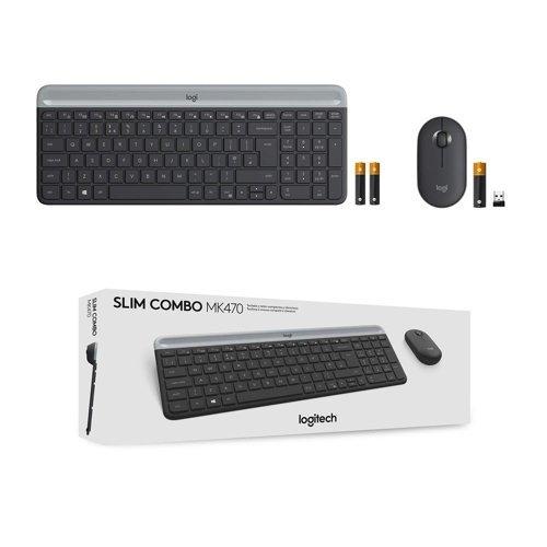 Zestaw bezprzewodowy klawiatura + mysz LOGITECH MK470 Slim
